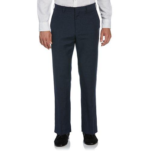 Men's Cubavera Classic-Fit Linen-Blend Flat-Front Suit Pants