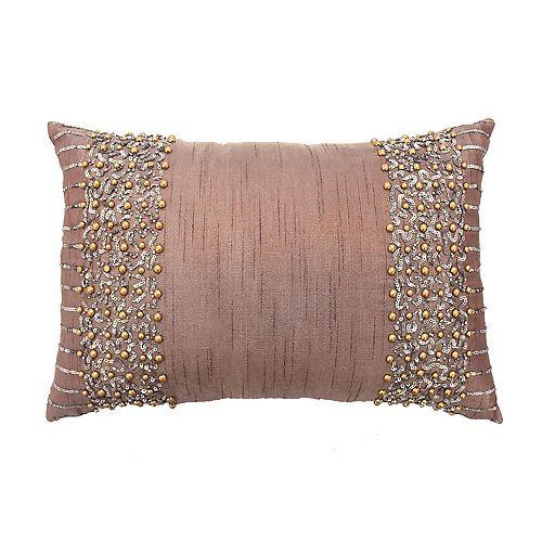 Beautyrest Montreal Beaded Oblong Throw Pillow
