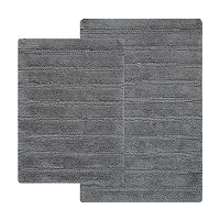 Hotel Collection 2-piece Striped Reversible Bath Rugs Deals