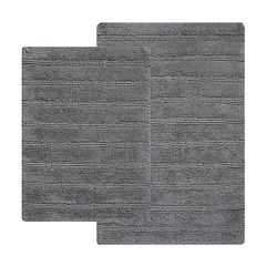 Hotel Collection 2 Piece Striped Reversible Bath Rugs
