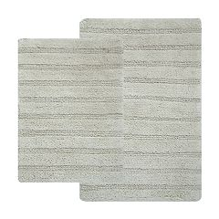 Hotel Collection 2-piece Striped Reversible Bath Rugs