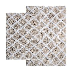 Hibbing 2-piece Shag Diamond Bath Rug Set