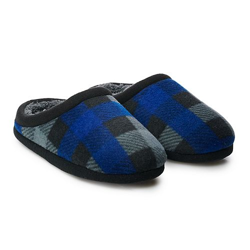 Boys 4-20 Cuddl Duds Buffalo Check Clog Slippers