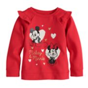 Disney's Mickey & Minnie Mouse Toddler Girl Softest Fleece Sweatshirt by Jumping Beans®