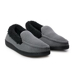 Boys 4-20 Cuddl Duds Fleece Moccasin Slippers