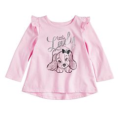 Disney's Lady and the Tramp Baby Girl 'Little Lady' Glittery Graphic Tee by Jumping Beans®