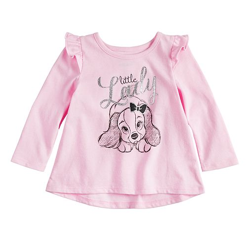 """Disney's Lady and the Tramp Baby Girl """"Little Lady"""" Glittery Graphic Tee by Jumping Beans®"""