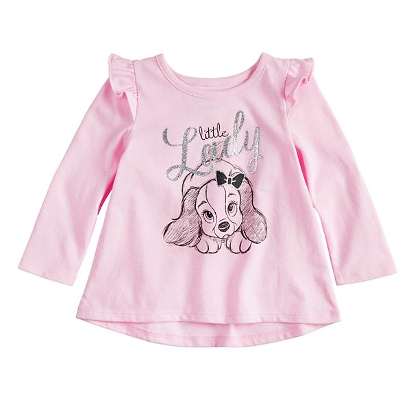 Disney S Lady And The Tramp Baby Girl Little Lady Glittery Graphic Tee By Jumping Beans