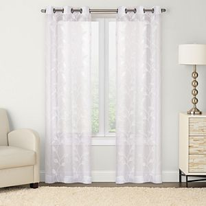 Sonoma Goods For Life? 2-pack Leaf Embroidered Window Curtain