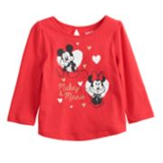 Disney's Mickey & Minnie Mouse Baby Girl Glittery Graphic Tee by Jumping Beans®