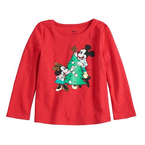 Disney s Mickey   Minnie Mouse Baby Girl Holiday Graphic Tee by Jumping  Beans® b774d5623