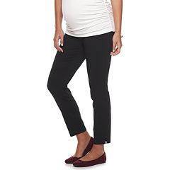 Maternity a:glow Full Belly Panel Slim Ankle Pants