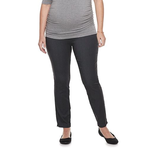 afbca2a788d Maternity a glow Full Belly Panel Slim Ankle Pants