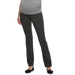 Maternity a:glow Full Belly Panel Ponte Bootcut Pants