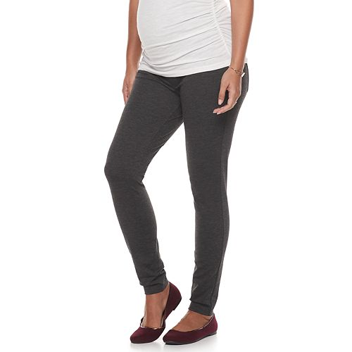 Maternity a:glow Full Belly Panel Skinny Ponte Pants