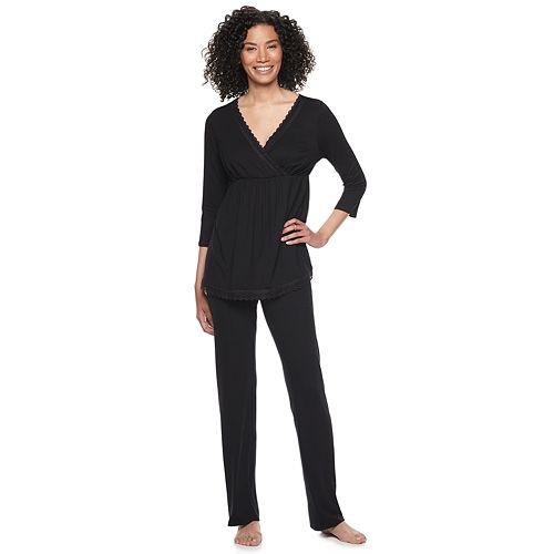 Maternity a:glow Nursing Top & Pants Pajama Set