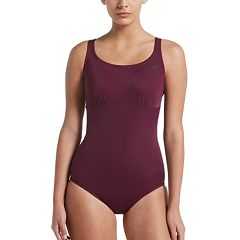 Women's Nike Solid Epic Racerback One-Piece Swimsuit