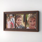 Fetco Sierra Linear 3-Opening Collage Frame - Espresso