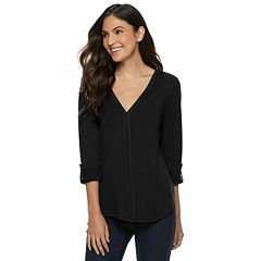 Women's Apt. 9® V-Neck Button Sleeve Top
