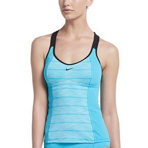 Women's Nike® Heather Stripe Racerback Tankini