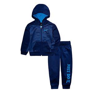 Baby Boy Nike 2-Piece Therma Zip Logo Hoodie & Pants Set