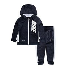 Baby Boy Nike 2-Piece Colorblock Hoodie & Pants Set