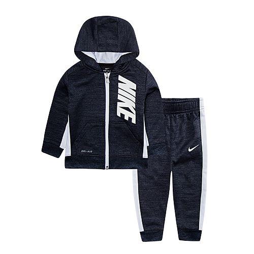 Baby Boy Nike 2-Piece Colorblock Hoodie & Pants Set