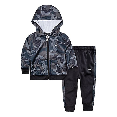 Baby Boy Nike 2-Piece Camouflage Hoodie & Pants Set