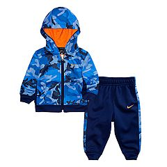 Baby Boy Nike 2-Piece Camouflage Hoodie & Pants Set