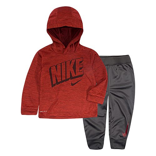 Baby Boy Nike 2-Piece Hooded Top & Pants Set