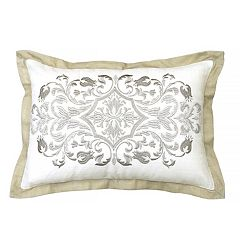 Beautyrest Pemberly Embroidered Oblong Throw Pillow