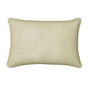 Beautyrest Laurel Embroidered Oblong Throw Pillow