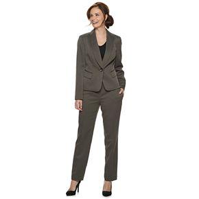 Women's Le Suit 1-Button Shawl Collar Pant Suit