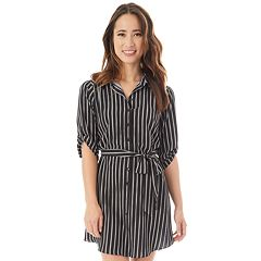Juniors' IZ Byer Button-Down Shirt Dress