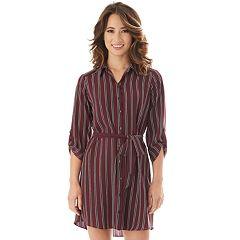 Juniors' IZ Byer Button-Down Shirt Dress