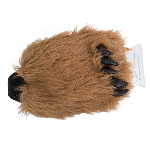 Hammer & Axe Faux-Fur Wolf Ice Scraper Mit