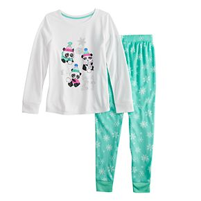 Girls 4-14 & Plus Size SO® Robe, Top & Bottoms Pajama Set