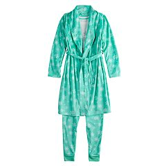 Girls 4-14 & Plus Size SO® Robe, Top & Bottoms Pajama Set