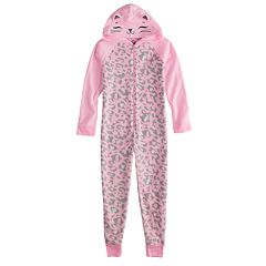 Girls 4-14 & Plus Size SO® Fleece Hooded Footless Pajamas