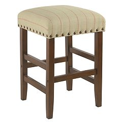 HomePop Striped Counter Stool