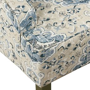 HomePop Geometric Swoop Arm Accent Chair