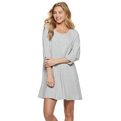 Juniors' SO® Roll-Tab French Terry Dress