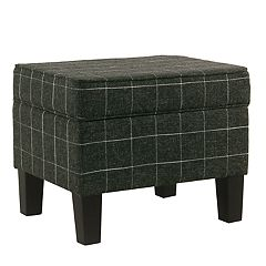 HomePop Windowpane Storage Ottoman