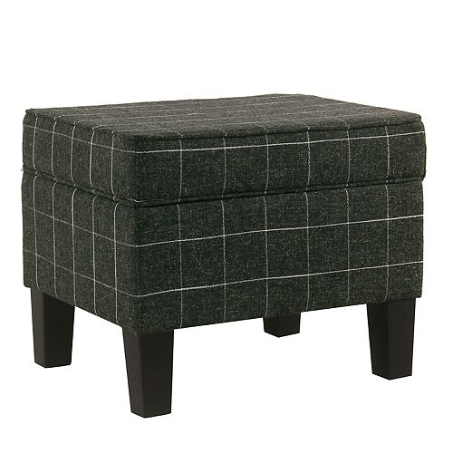 Incredible Homepop Windowpane Storage Ottoman Ncnpc Chair Design For Home Ncnpcorg