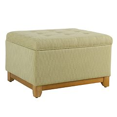 HomePop Oversized Tufted Storage Ottoman