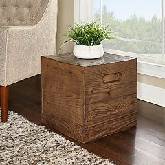Powell Warner Crate End Table