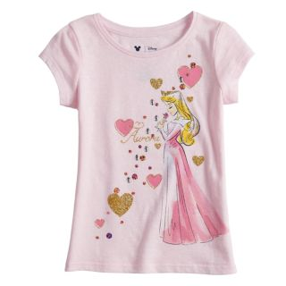 Disney's Sleeping Beauty Aurora Girls 4-10 Glittery Graphic Tee by Jumping Beans®