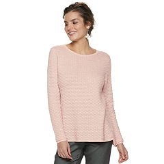 Women's ELLE™ Textured Lurex Sweater