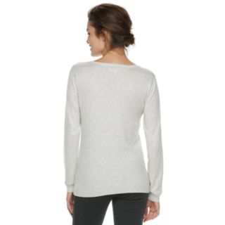 Women's ELLE? Embellished Diamond-Stitch Sweater