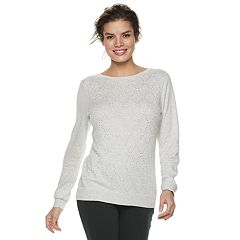 Women's ELLE™ Embellished Diamond-Stitch Sweater